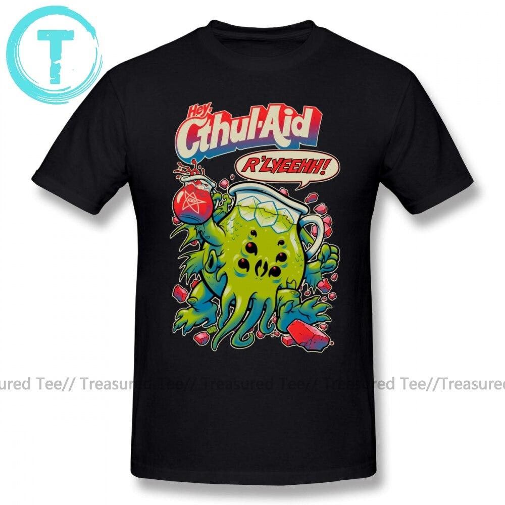 Top Cthulhu T-shirt Cthul Aid T-shirt Katoen Korte Mouwen Tee Shirt Mannelijke Leuke Plus Gedrukt Strand Tshirt Cartoon casual Korte