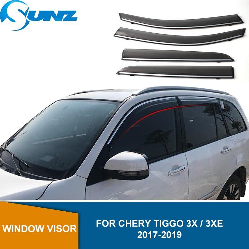 Side Window Deflectors For Chery Tiggo 3x 3XE 2017 2018 2019 2020 4pcs Window Visor Sun Rain Guards Weathershileds SUNZ