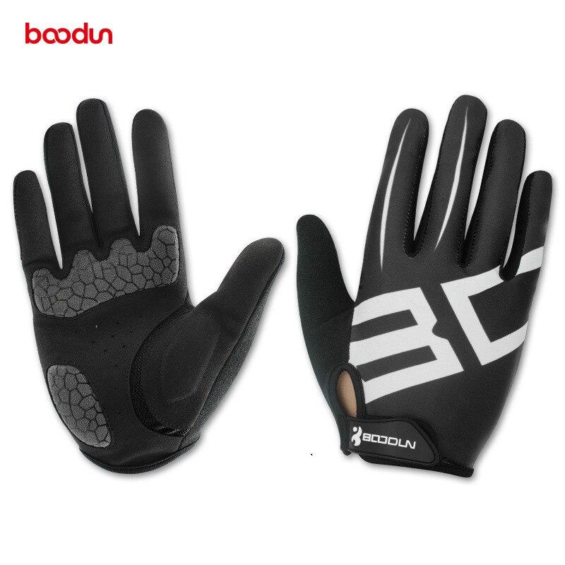 Boodun-guantes de ciclismo de dedo completo para hombre y mujer, mitones de...