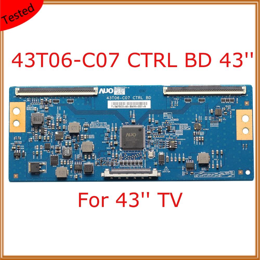 Placa de Exibição Placa de Substituição Ctrl Ttcon Equipamento tv t Con Placa Tcom T-con Polegada 43t06-c07 bd 43