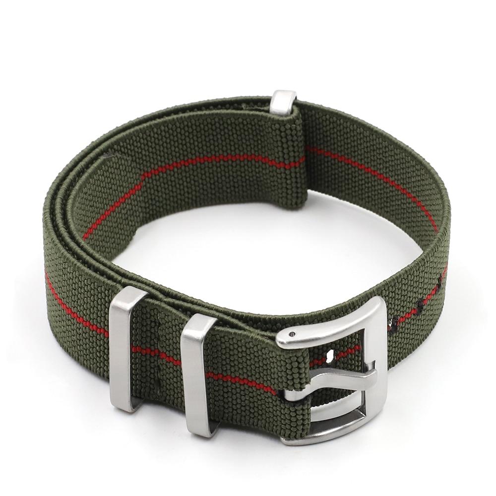 Trendy Marke Nylon Nato armband Uhr Elastische Gürtel Französisch Truppen Fallschirm Tasche Armband 18mm 20mm 22mm Militär armbanduhr