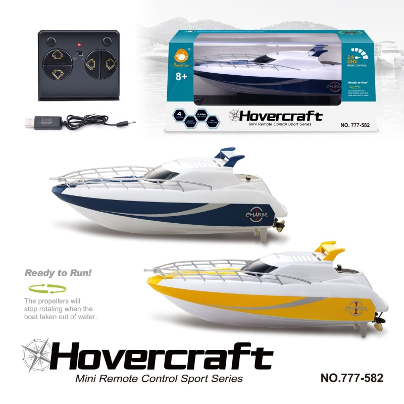 2.4G RC Boat Toy High Speed Racing Rechargeable Batteries For Children Boat Colors Control Remote Ki