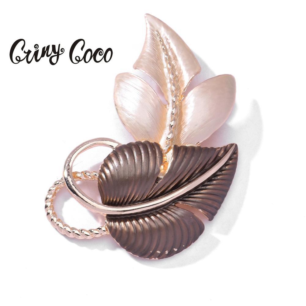 Cring Coco 2020 Folha Do Coração Broches & Pinos Corsage broche de Pino de Esmalte Na Moda Lady Vestido de Festa das Mulheres Decoração Menina acessórios