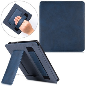 2021 New Stand Case for Kindle Oasis 2 (9th Gen, 2017 Release Only) -PU Leather Smart Cover with Hand Strap and Auto Sleep/Wake