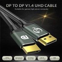 Новинка 2021, кабель для порта дисплея 1,4, 8K, 4K, HDR, 165 Гц, 60 Гц, фотоадаптер для порта видео, ПК, ноутбука, ТВ, DP 1,4, кабель для порта дисплея 1,4