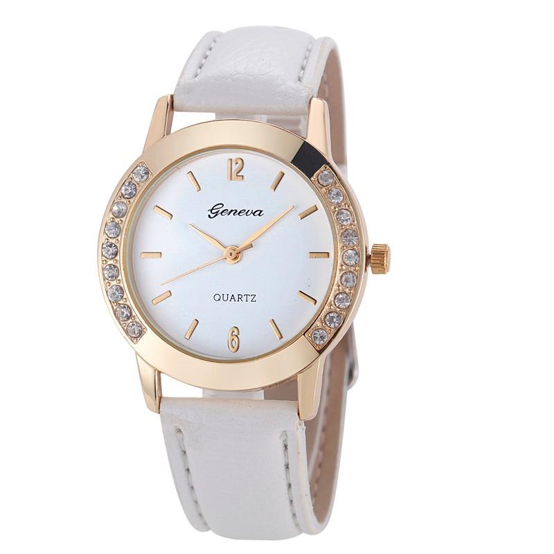 Geneva Fashion Women Watches Ladies Watches Leather Band Quartz Watches Montre Femme Reloj Mujer Elegante 2020 Clearance Sale
