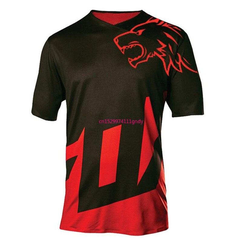 Enduro-Camiseta de motocross mx para hombre, maillot para ciclismo de montaña, todoterreno,...
