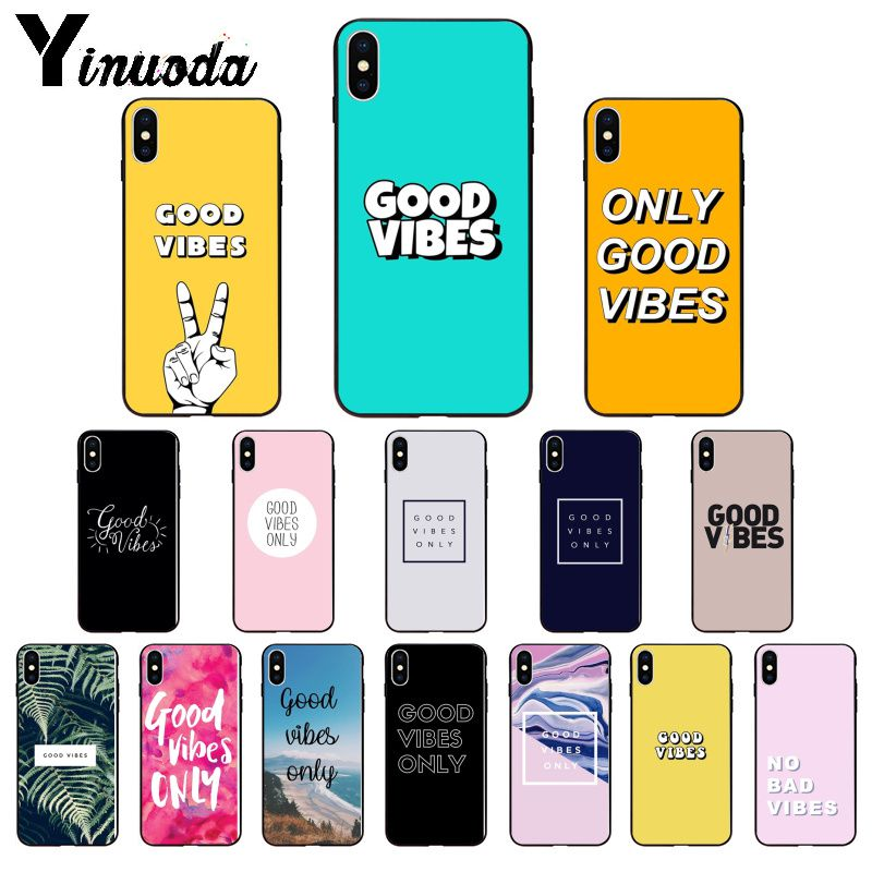 Yinuoda, funda de teléfono de silicona suave TPU para iPhone 5, 5Sx, 6, 7, 7plus, 8, 8Plus, X, XS, MAX, XR, 11, 11pro max