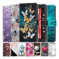 butterfly leather flip cover for huawei honor 7s 8s 8a 8x 9x 10 10x lite p smart z p smart 2021 wallet card holder stand cover