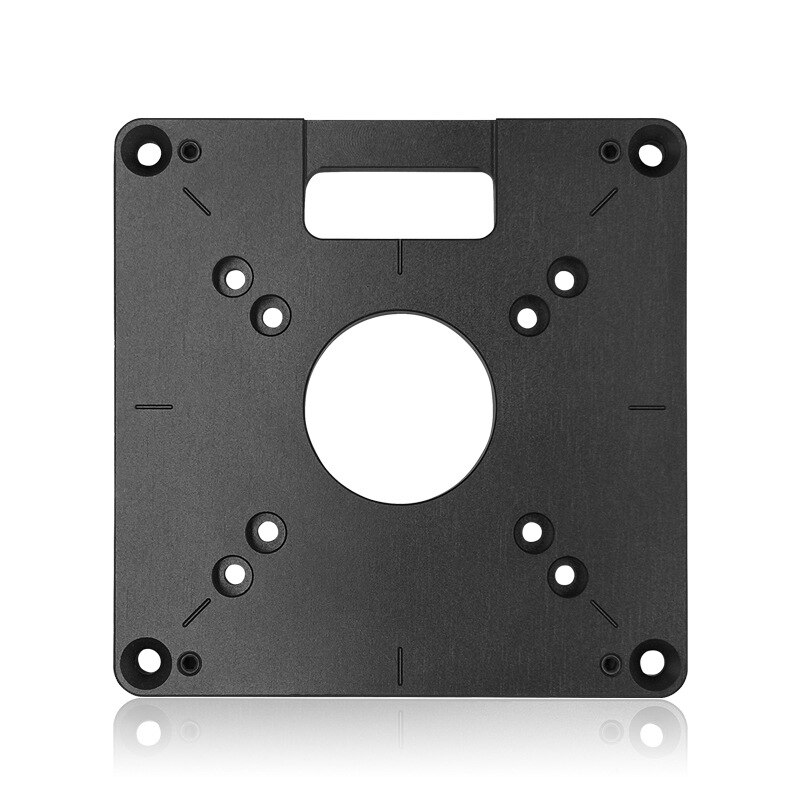Fresadora de aluminio Universal práctica, placa de inserción de mesa, máquina de recorte, tablero abatible para carpintería, bancos, enrutador, placa de mesa