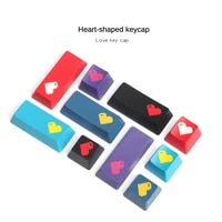 personalized keycaps love pixel heart keycap abs two color craft escenter oem height key caps mechanical keyboard