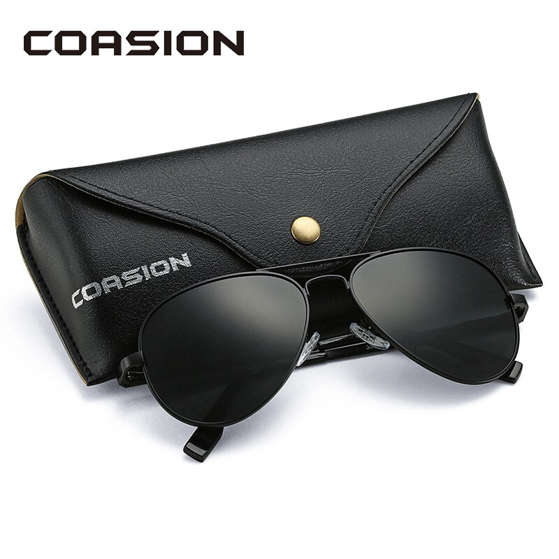 COASION Classic Pilot Sunglasses Men Women Polarized 2019 Metal Frame Sun Glasses Mirror Lens Driving Eyewear UV400 58mm CA1095