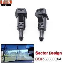Xukey x2 Front Windscreen Wiper Washer Jet Nozzle Nozzles For Kia Sorento 2 Sportage 4 For Hyundai Veracruz Verna Creta ix55