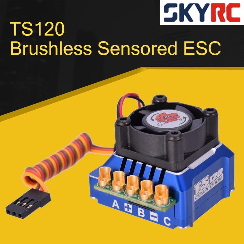 SKYRC TORO TS120 бесщеточный датчик ed ESC с поддержкой бесщеточный электродвигатель с датчиком для 1:10 1:12 RC автомобиля синий/черный/золотой