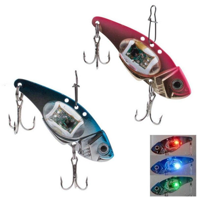 Luz LED para pescar señuelo con anzuelos pesca electrónica cebo con luz aparejo señuelo para peces luz intermitente lámpara práctica señuelos LED