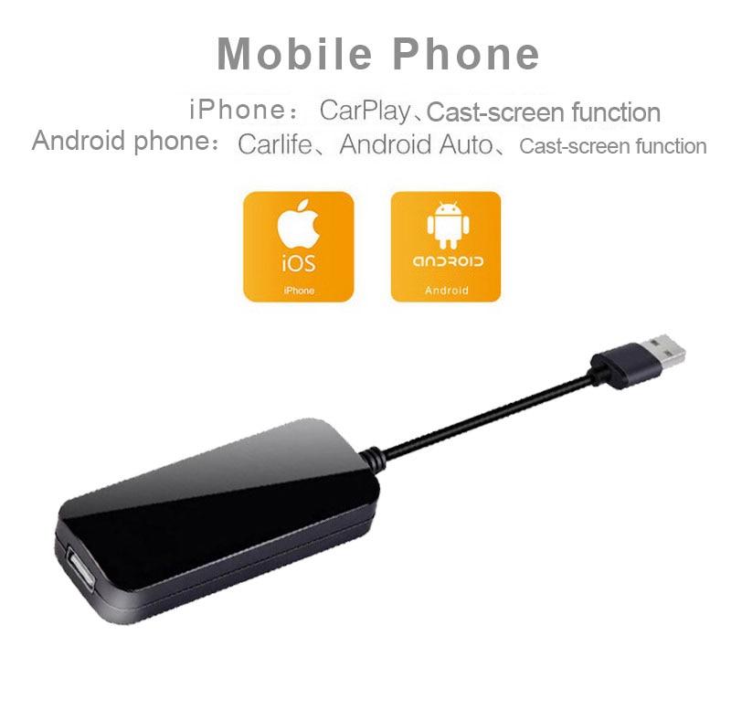 Carlinkit USB enlace inteligente Carplay Stick con Android adaptador de Auto para Apple CarPlay Dongle Android GPS reproductor de navegador Mini USB