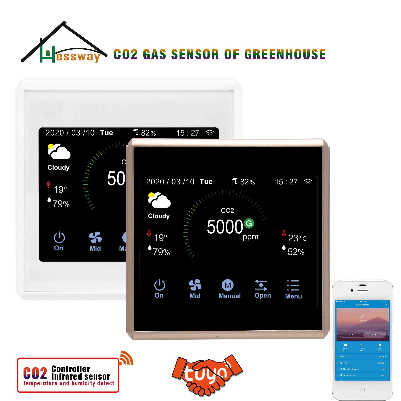 هيسواي تويا APP واي فاي و RS485 CO2 الغاز الاستشعار منظم للأكل صوبة الفطر