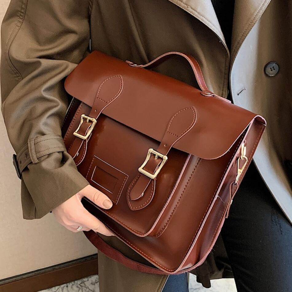 Vintage Large capacity Women Backpack 2021 PU LeatherWomen's Shoulder Bag High Quality Travel Books Rucksack School Backpacks