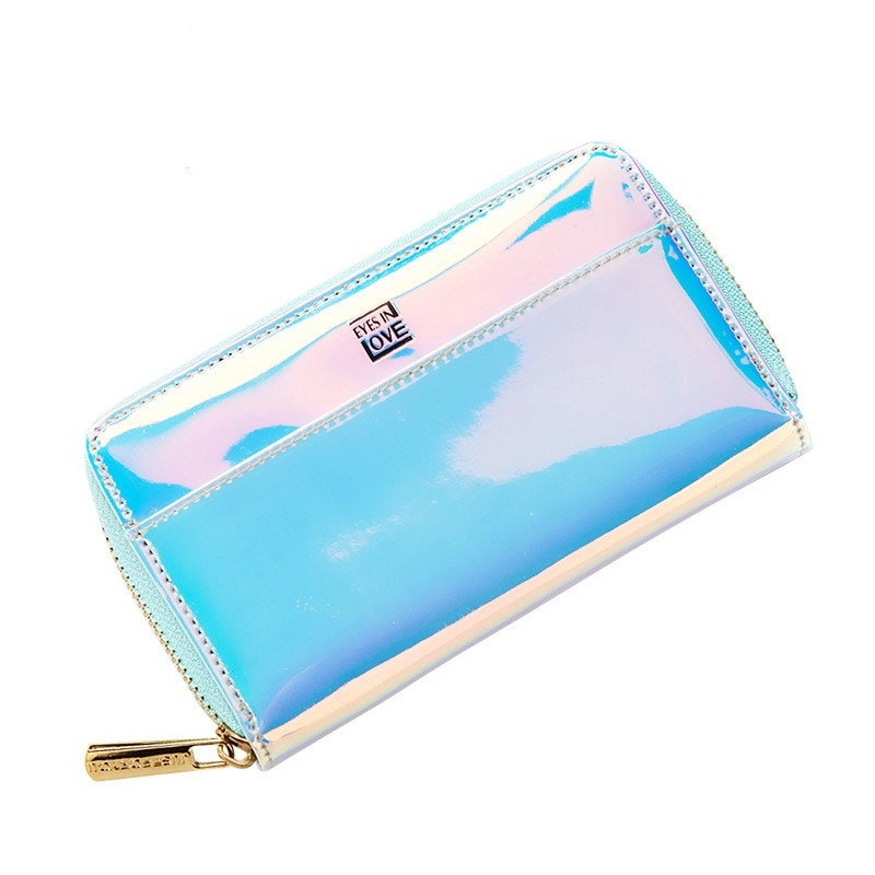 Women Wallet Lady Purses Sequins Card Holder Wallets Female Clutch Money Bag Leather carteira Simple Hand Zipper Coin Purse Bag