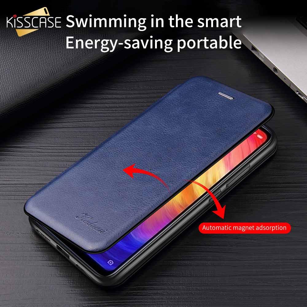 KISSCASE Magnetische Adsorption Leder Fall Für Samsung Note10 Capa Für Samsung A50 Flip Fall S9 S10 A70 A40 A30 A20 a5 2017 S7 S8