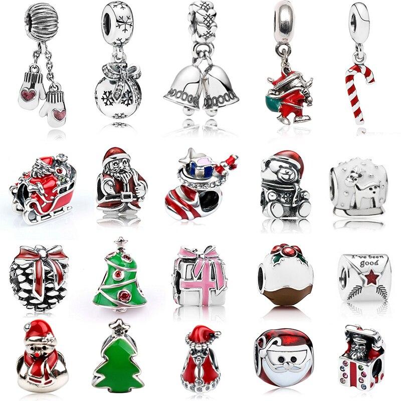 2 Teile/los Weihnachten Charm Bead Anhänger DIY Zubehör, Für, Der Marken Ms Armbänder Und Halsketten Weihnachten Geschenke