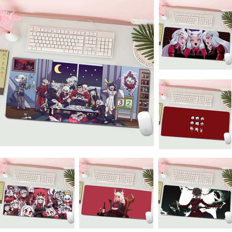 helltaker Silicone large/small Pad to Mouse Game L Large Gamer Keyboard PC Desk Mat Computer Tablet Gaming Mouse Pad