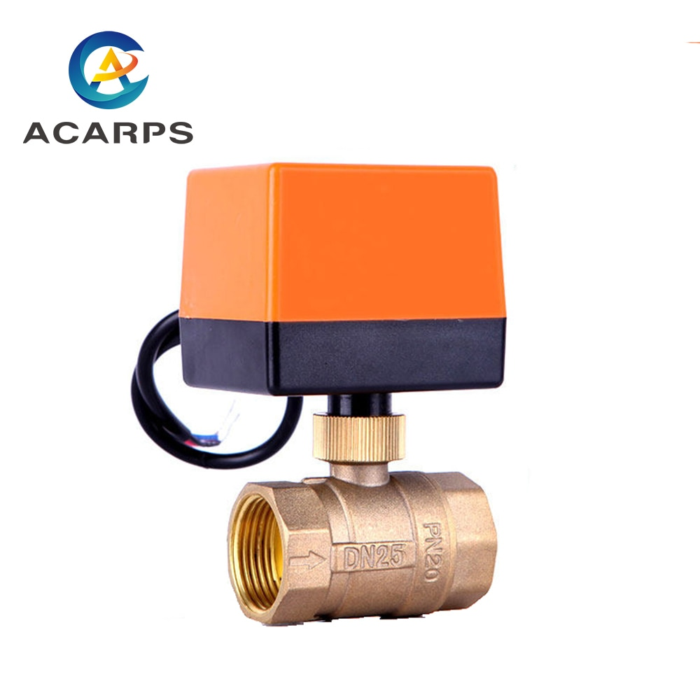 "1/2 ""3/4"" 1 ""2"" válvula de bola eléctrica AC220V 3 cables 2-control de vía hilo de latón válvula de bola eléctrica válvula de bola motorizada estable"