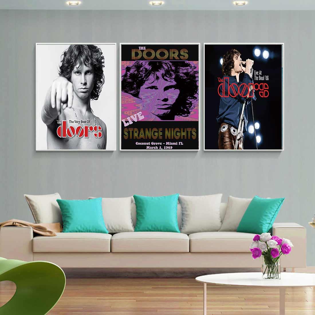 L142 The Doors Jim Morrison Rock Wall Art Decor Silk Poster Print Room Decoration Picture Gift Canvas Custom 24x36' 12x18'