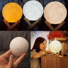 3D Printing Moon Lamp USB LED Night  Touch Control Color Changing
