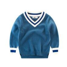 Pull à manches longues pour garçons   Pull chic, en coton, pour enfants, vêtements dhiver, preppy