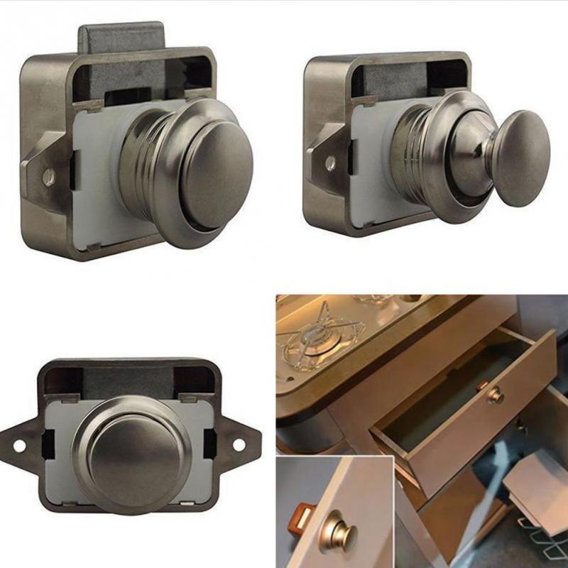 Push Button Catch Lock Cupboard Door Motorhome Cabinet  Caravan Latch Knob