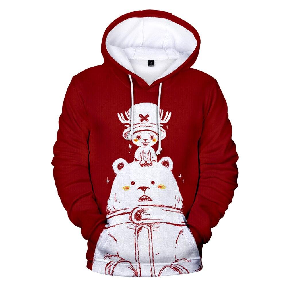 Tony Chopper Sudadera con capucha hombre mujer chico sudadera Anime una pieza 3d imprimir ropa