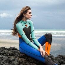 Marque femmes une pièce plongée sous-marine combinaison humide 1.5mm néoprène combinaisons natation surf plongée sous-marine plongée sous-marine combinaison