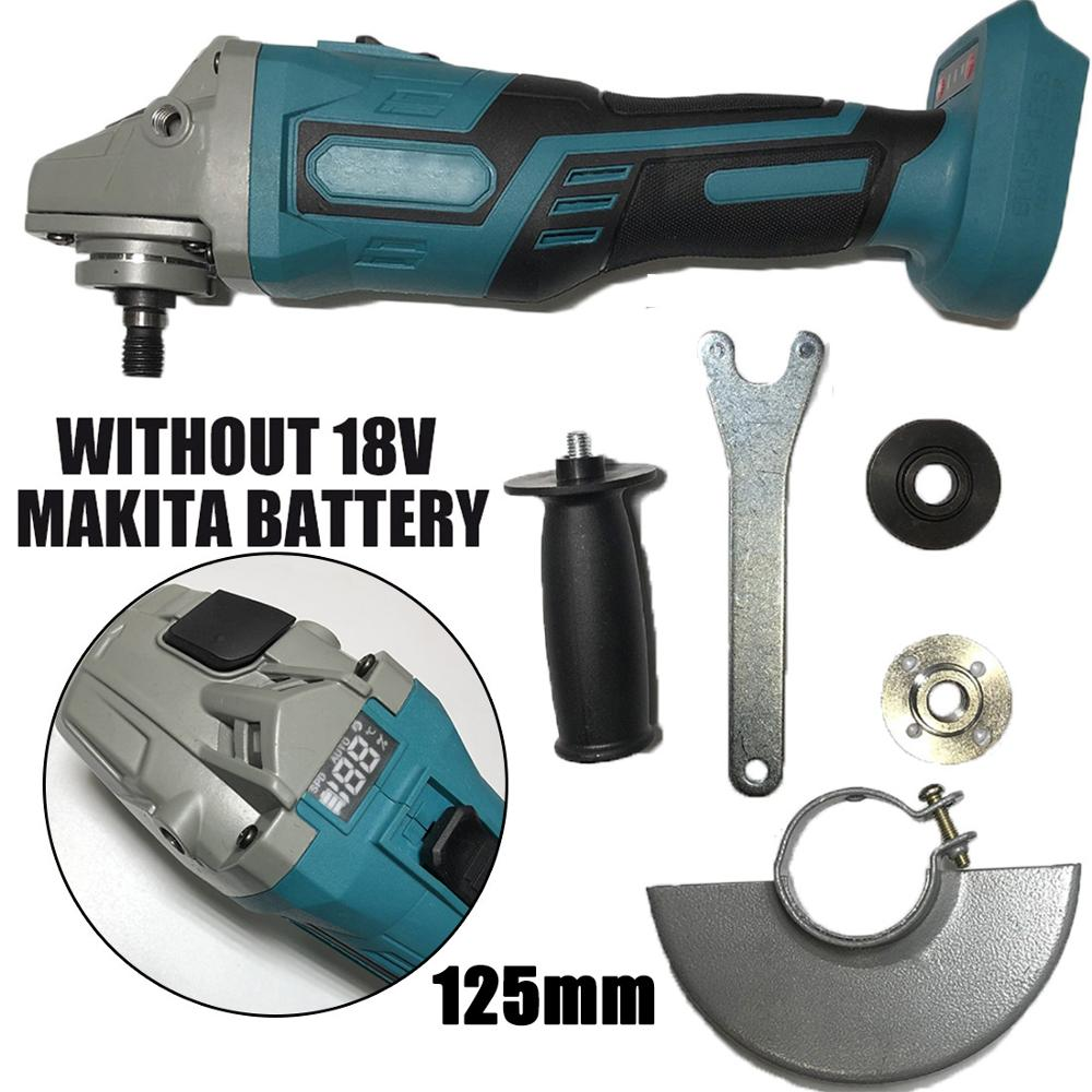 Amoladora angular sin escobillas de 100mm y 125mm sin batería para Makita, amoladora angular eléctrica de 18V, herramientas eléctricas para carpintería, Carpinteria