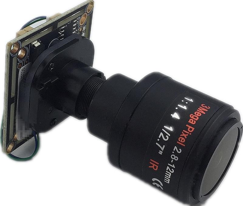 1920*1080 2.0MP AHD модуль камеры доска панорама рыбий глаз 2,8-12 мм XM330 + 2235E 38*38 мм UTC BNC DC 12 В CCTV безопасности
