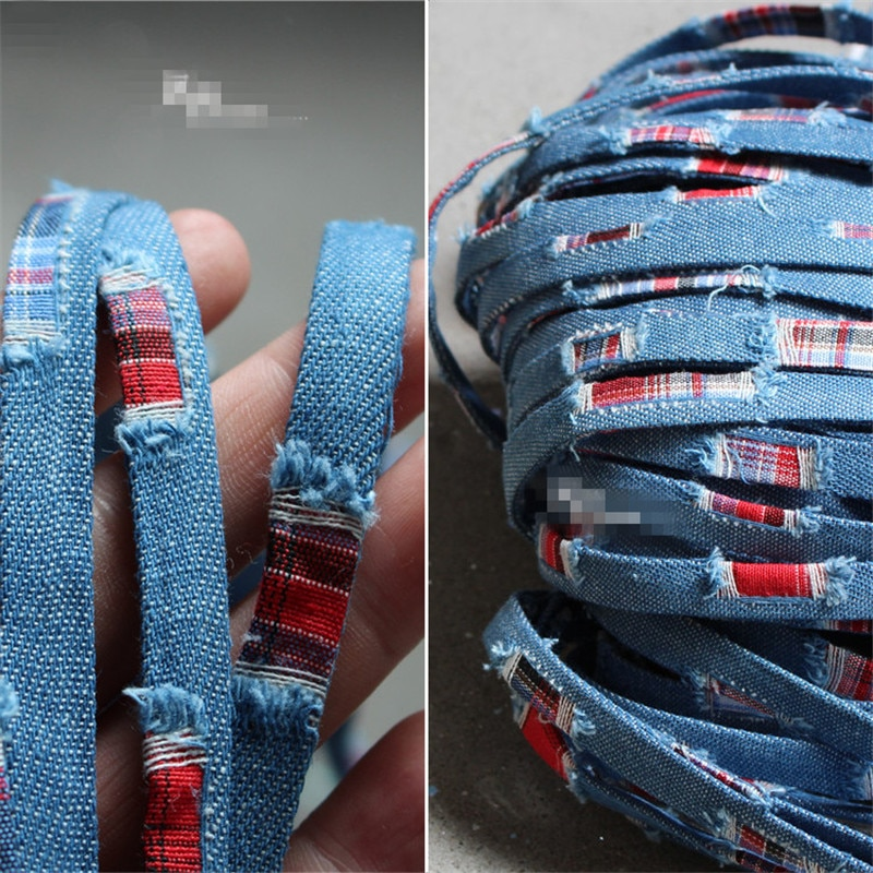 100cm * 1 cm/pieza tela vaquera azul cinta encaje diseñador decoración creativa diy accesorios tejidos a mano