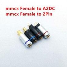 2 шт. mmcx гнездовой к A2DC/0,78 мм 2Pin на заказ универсальный контактный разъем mmcx Кабельный адаптер