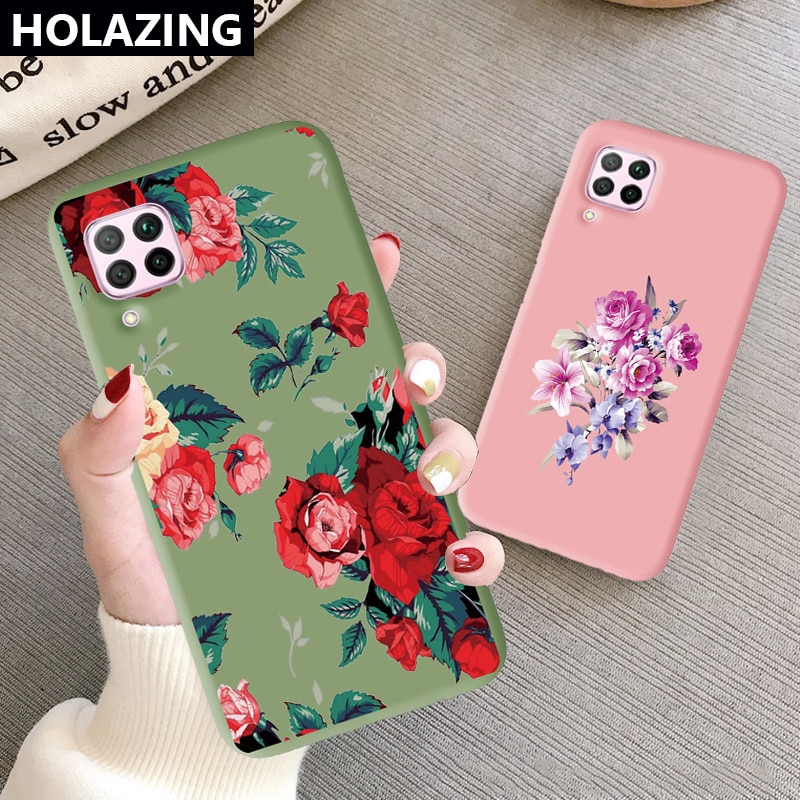 Rose Flower Phone Case for Huawei Nova 7i 6 7 SE Nova 5T 5 5T 5i Pro 4 4E 3E 3i 3 Luxury Women Soft Silicon Cover