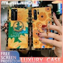 MUSUBO Luxe 3D Cas A51 A20 s A91 Pour Samsung S20 Ultra S10 S8 Plus A10 M30 A40 A70 M30S A50 A71 A81 carrée couverture de téléphone