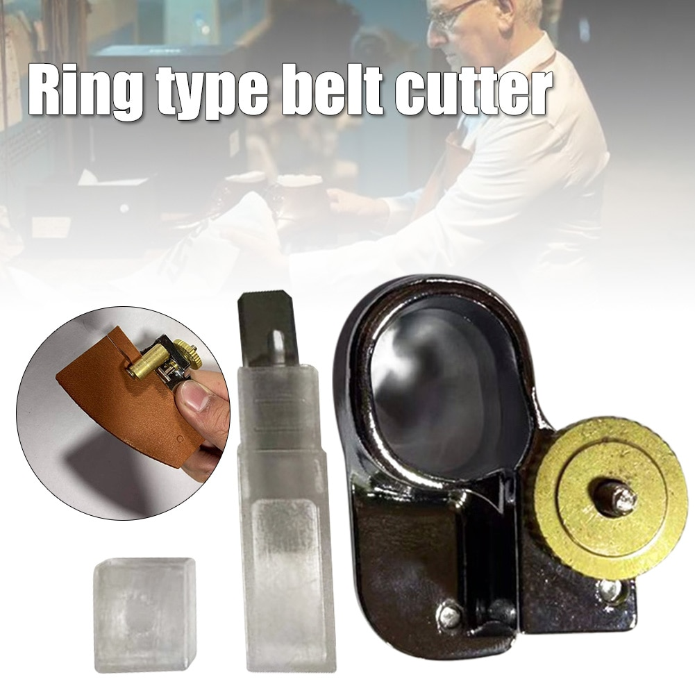 Cortador de tiras de correa de cuero herramienta artesanal DIY de corte manual portátil para tangas de encaje BDF99