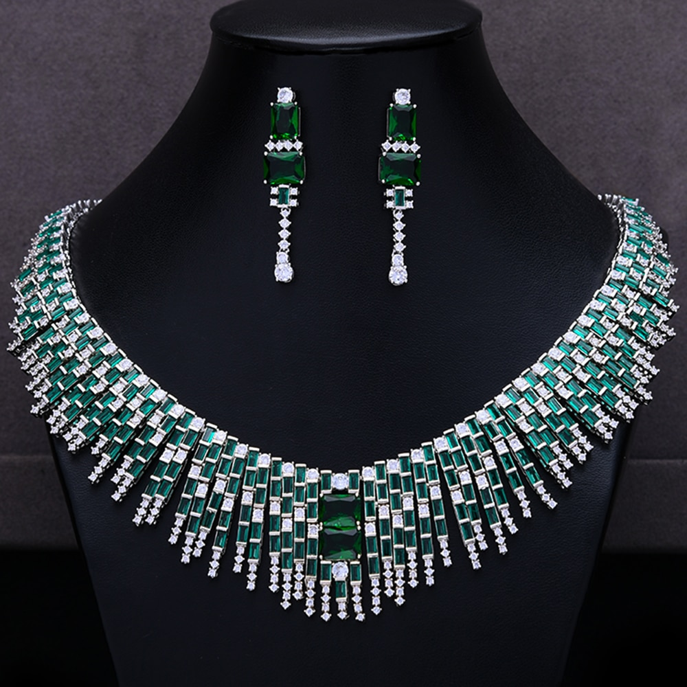 Godki luxo na moda 2 pçs borlas conjunto de jóias para o casamento feminino completa zircão cúbico dubai conjunto de jóias de noiva 2020