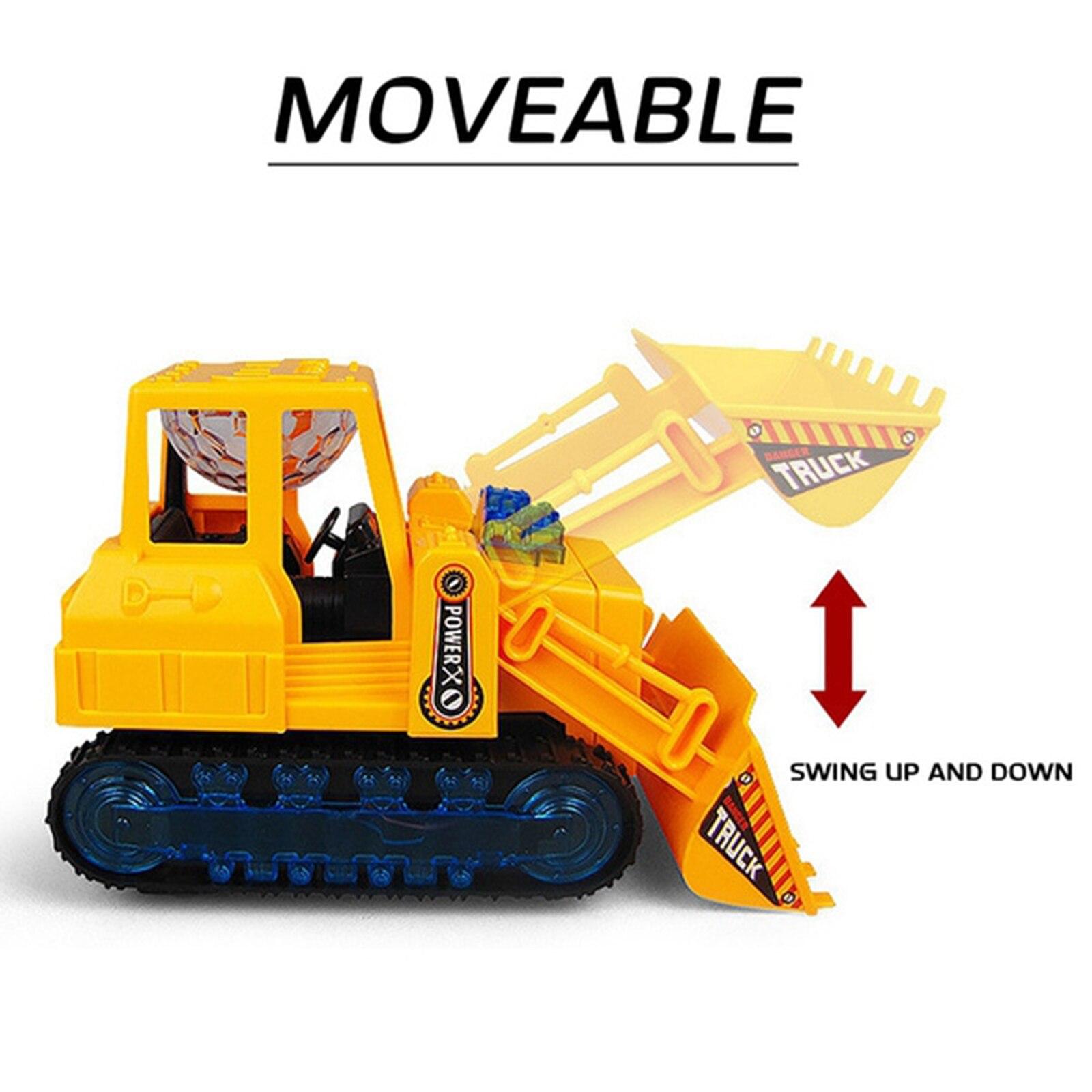 Электрический строительный бульдозер грузовик со звуком и светильник машинки для маленьких мальчиков