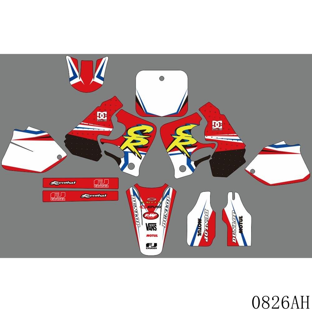 Calcomanías gráficas completas pegatinas de fondo de motocicleta nombre personalizado 3M para HONDA CR250 CR 250 1995 1996 CR125 CR 125 1995 1996 1997