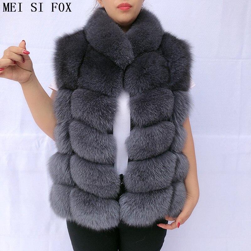 women's vest fox fur vest jacket with a collar natural fur fur coats real fox fur real fur vest fur jacket coat female autumn фото
