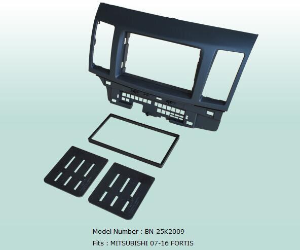 Coche PVC 2 Din Audio Marco de Panel Dash Kit para Mitsubishi Lancer Fortis 2007, 2008, 2009, 2010, 2011, 2012, 2013, 2014, 2015, 2016