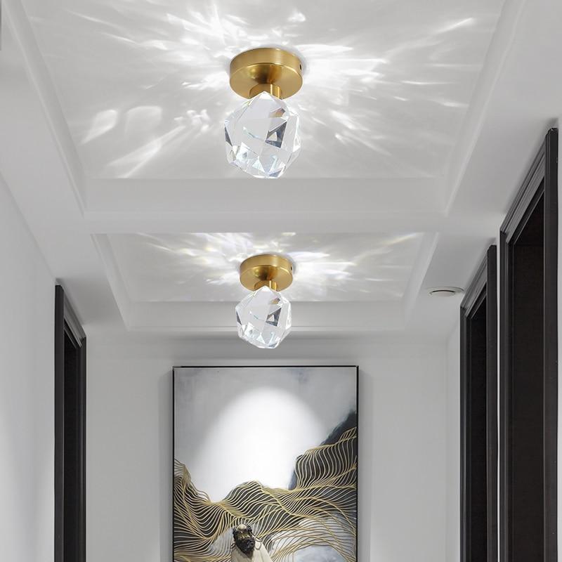 مصابيح سقف Led كريستالية ، تصميم عصري ، إضاءة داخلية ، إضاءة سقف زخرفية ، مثالية لغرفة النوم ، غرفة المعيشة ، المطبخ ، المدخل ، الممر ، المدخل