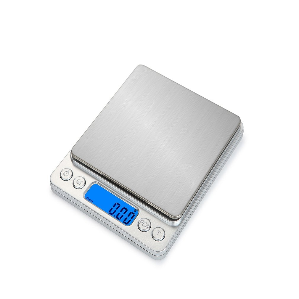 HT-I200 1000g x 0.1g Portable Stainless Steel Electronic LCD diaplay Food Scales Kitchen Jewelry Wei