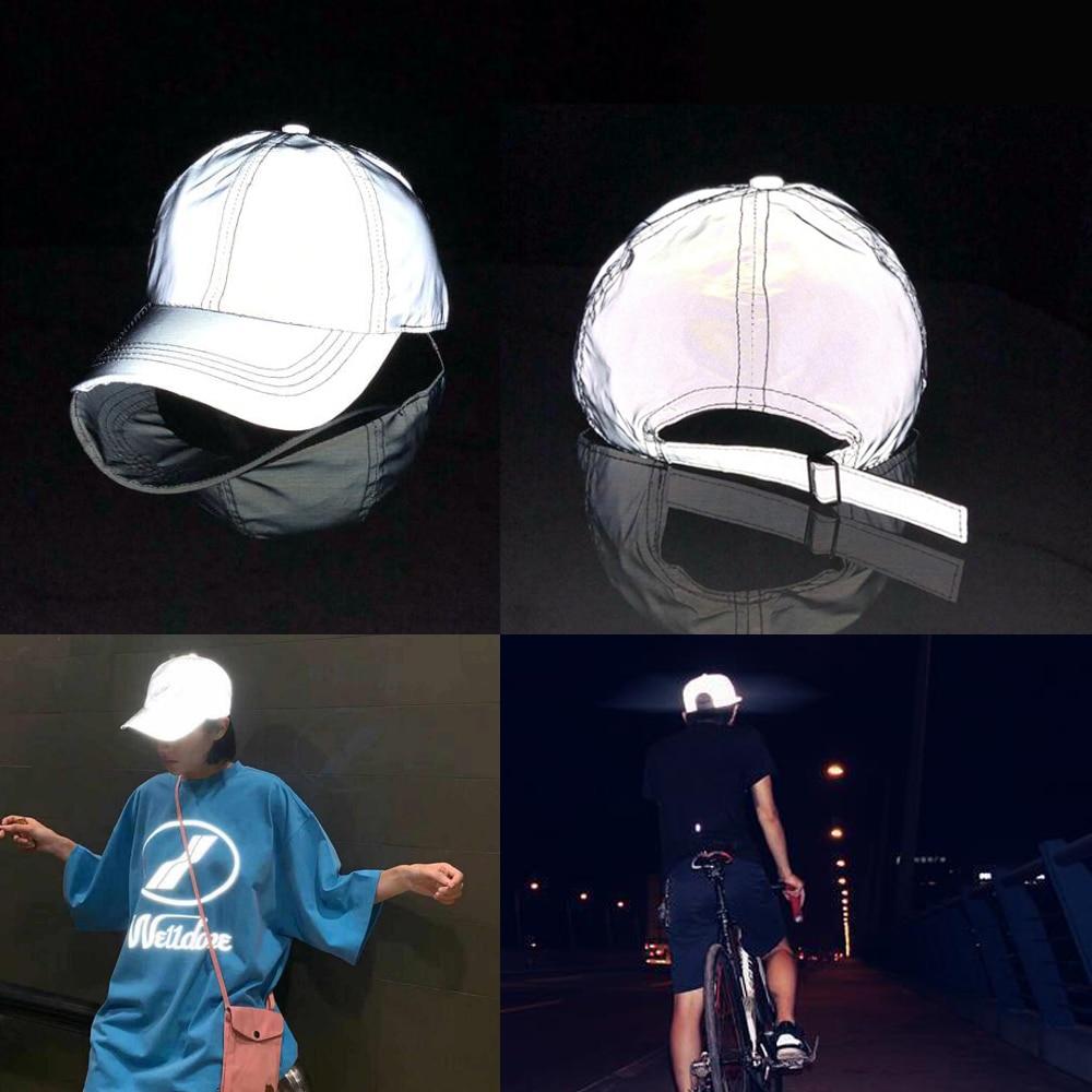 Outdoor Cap Reflective Baseball Hat  Night Running And Riding Safety outdoor cap reflective baseball hat night running and riding safety
