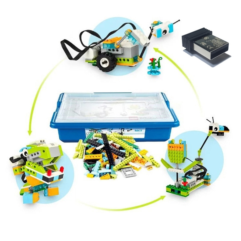 280Pcs Technic Education WeDo 2.0 DIY Parts Compatible with LOGOes SET 45300 WeDo Core Set DIY Boxed Toys Xmas Gifts Best Choice