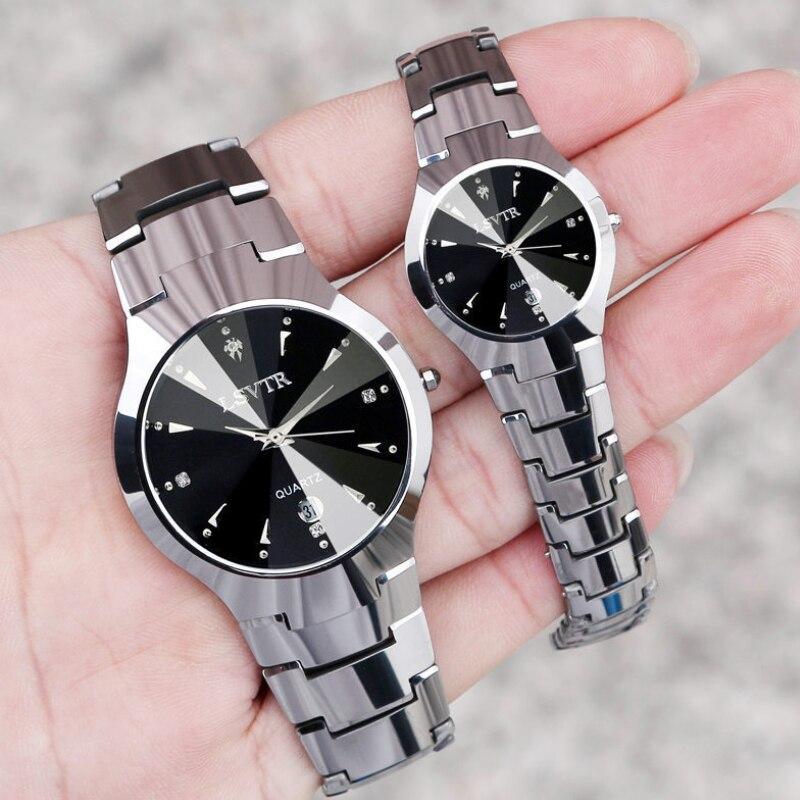 Hot Selling Couple Watch LSVTR Men Women Tungsten Steel Watch Ladies Quartz Lover Watch Gift To Husb
